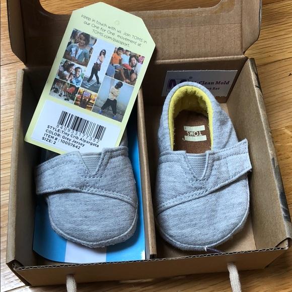 Grey Jersey Tiny Toms Crib Alpargatas